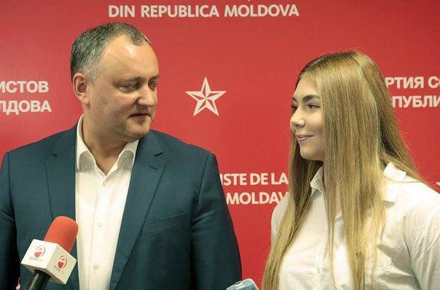 Игорь Додон и Марья Наумова