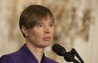 Президент Естонії назвала ситуацію в Україні та Грузії війною і окупацією