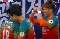 В стартовавшем в условиях коронавируса футбольном чемпионате Южной Кореи был забит элегантный гол