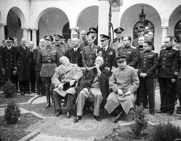 Учасники Ялтинської конференції (Лютий 1945 р.)