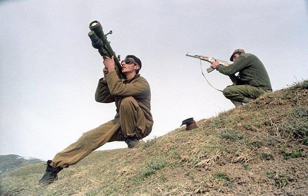 Вірменські бійці в Нагірному Карабаху. 27.02.1993