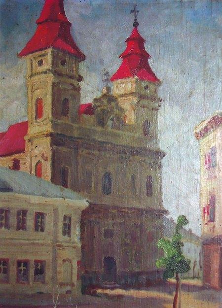«Катедральний собор у Станиславові».1940. Олія, полотно.
