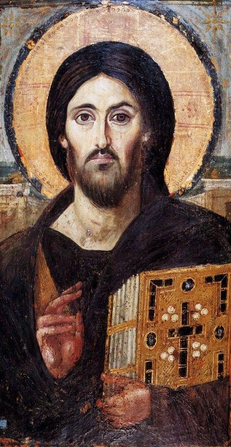 Христос Пантократор (сер. VI в, доска, восковые краски)