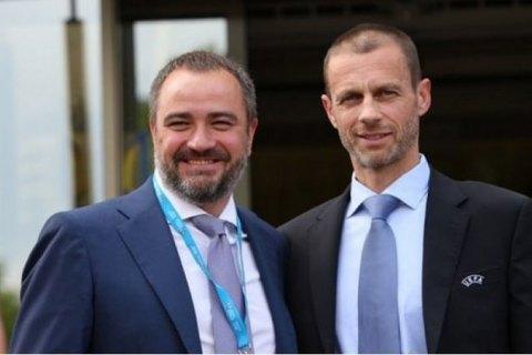 Президент УЄФА офіційно подякував Андрієві Павелку за фінал Ліги чемпіонів