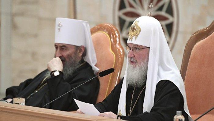 Патріарх Кирил та митрополит Онуфрій