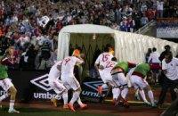 "Албании присудили ""технарь"" за побоище в матче против Сербии"