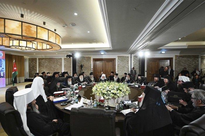 Під час зборів предстоятелів і делегацій помісних Православних Церков в Аммані, 26 лютого 2020
