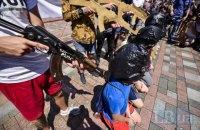 Под стенами Рады прошла акция в поддержку политзаключенных