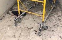 Из-за взрыва в киевском торговом центре пострадал ремонтник (обновлено)