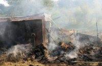 Пресс-центр АТО обнародовал снимки украинского села после обстрела из РФ