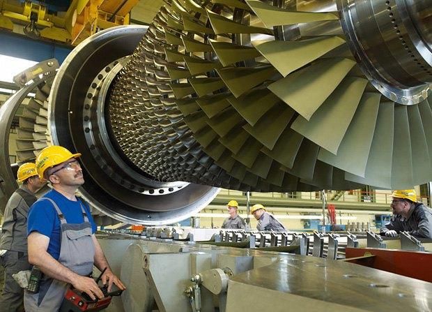 Производство газовых турбин в Германии