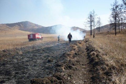 Площадь пожаров в Бурятии за сутки увеличилась в восемь раз