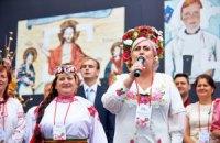 Неле Штепе напомнили, что Славянск - город патриотов и призер фестиваля вышиванок