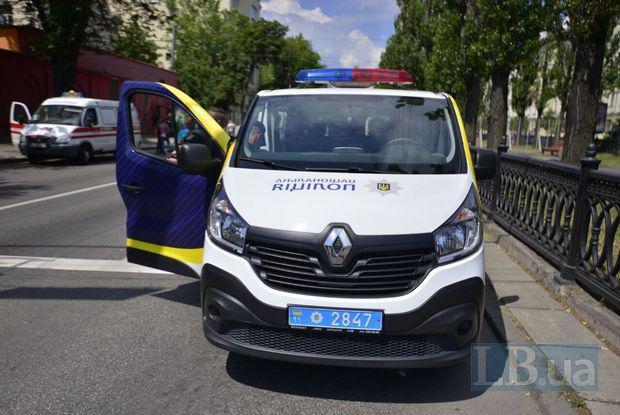 Автобус, в который сели после инцидента спецназовцы