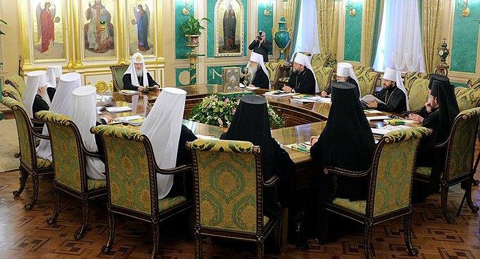 Заседание Синода Русской Православной Церкви