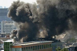 """В Москве горел офис """"Ленты.ру"""" и """"Рамблера"""""""