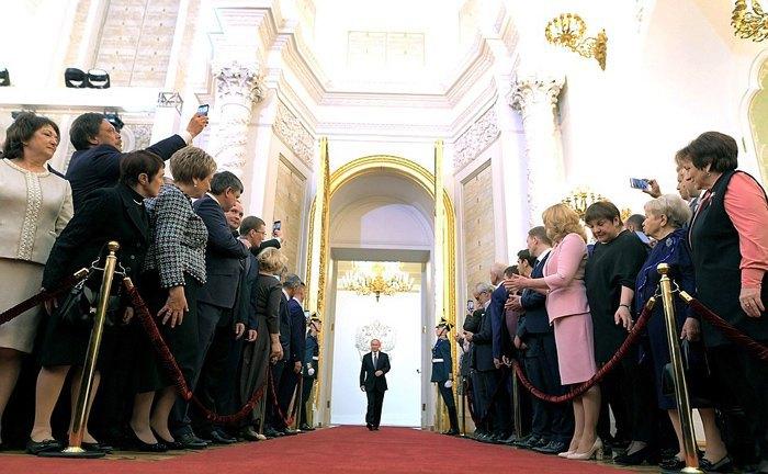 Владимир Путин во время церемонии инаугурации, 7 мая 2018.
