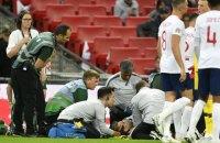 В матче Лиги Наций Англия – Испания игрок получил тяжелейшую травму головы