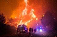 Масштабный лесной пожар начался в Португалии