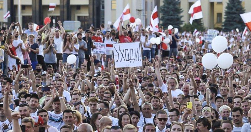 Марш новой Беларуси, Минск, 23августа.