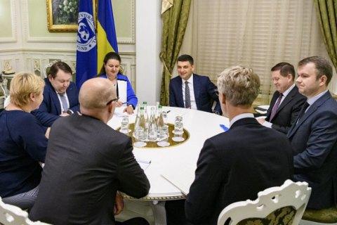 Гройсман встретился с делегацией МВФ
