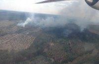 В Черниговской области пожарные весь день тушили горящий лес