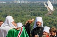 На молебен к патриарху Кириллу пришли Герман и Грищенко