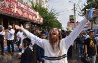 Тысячи паломников приехали в Умань для празднования еврейского Нового года