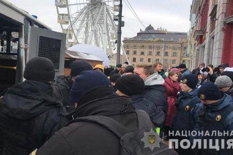 В Киеве перед митингом Тимошенко полиция задержала группу активистов (обновлено)