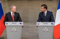 Макрон и Путин обсудили по телефону ситуацию в Украине (обновлено)