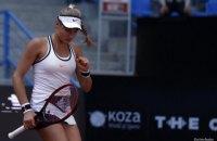 Українська тенісистка Ястремська вперше вийшла у півфінал турніру WTA