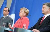 Порошенко на этой неделе проведет телефонный разговор с Меркель и Олландом