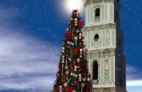 Главную новогоднюю ель Украины украсят 750 игрушек-конфет