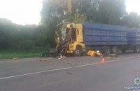 На Сумщине при столкновении двух грузовиков погиб водитель