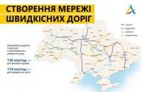 """""""Укравтодор"""" показал карту перспективной сети скоростных дорог"""