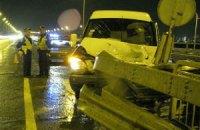 На Дарницком мосту в Киеве водитель ГАЗели протаранил отбойник