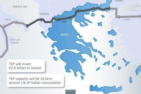 Італія дозволила будівництво Трансадріатичного газопроводу, який знизить залежність ЄС від російського газу