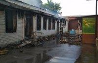 На будівельному складі ринку в Чугуїві сталася пожежа