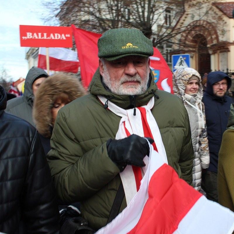 Уладзімір Арлов на похоронах Кастуся Каліноускага та його однодумців у Вільнюсі