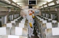 Самолет SkyUp уже прошел дезинфекцию после эвакуации украинцев из Китая