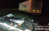 Троє людей загинуло під час зіткнення мікроавтобуса з тягачем на автодорозі Львів - Шегині