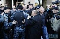 МВД: пострадавшая на митинге под офисом Ахметова упала сама