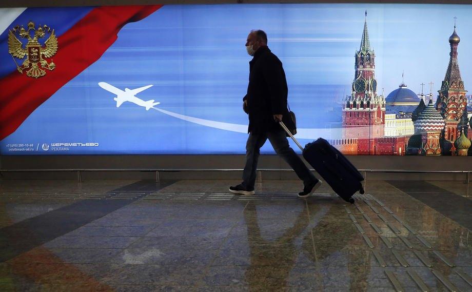 Терминал D международного аэропорта Шереметьево , Москва, 16 января 2021 г.