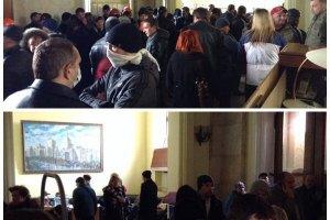 Харківські сепаратисти влаштували бійку в будівлі ОДА