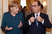 Франція і Німеччина наполягають на повному дотриманні режиму припинення вогню на Донбасі, - Олланд