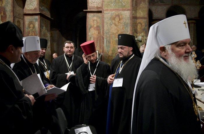 Во время Поместного объединительного Собора в Киеве, 15 декабря 2018
