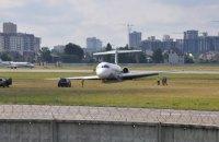 Появилось видео аварийной посадки самолета в аэропорту Сикорского в Киеве