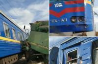 Поїзд Бахмут - Львів зіткнувся з комбайном