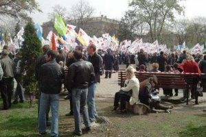 Суд над Тимошенко собрал митинг