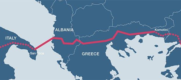 Проект Трансадриатического газопровода (TAP)
